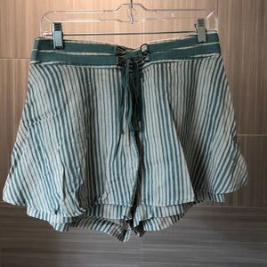 Free People Blue and White Stripe Skort Size 8